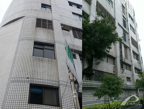 仁大資訊大樓-外牆改造前-Wallplus外牆更新專科工法