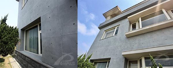 竹北獨棟個人住宅_外牆改造後-Wallplus外牆更新專科工法