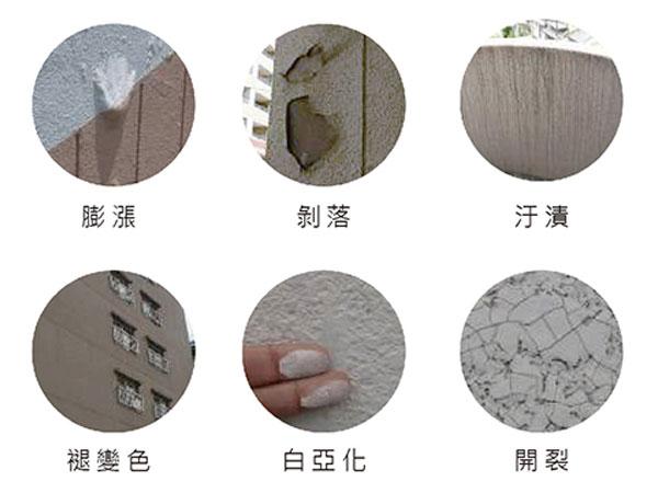 建物常見的各種外牆面飾材劣化症狀-Wallplus外牆更新專科工法