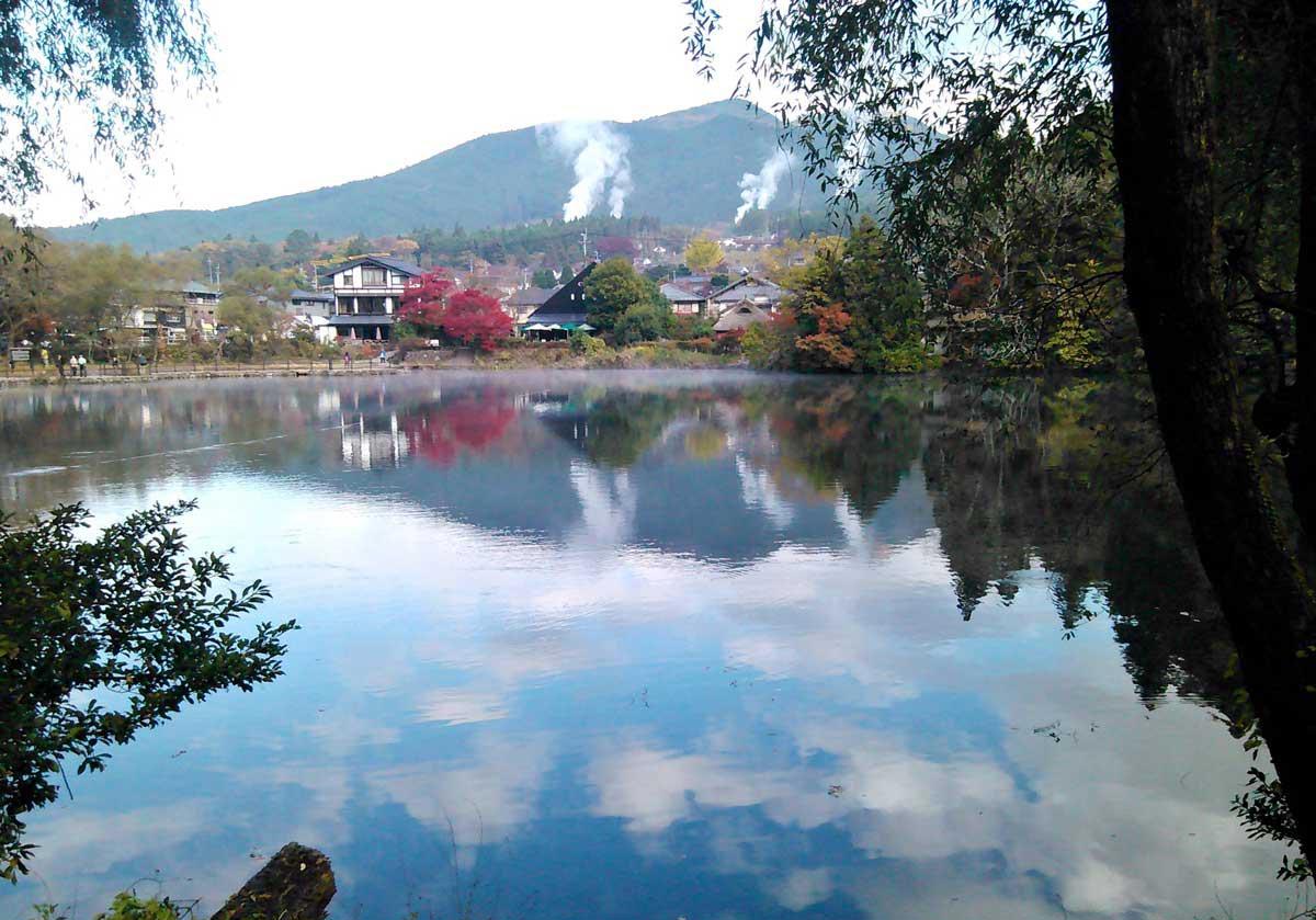 九州大分縣湯布院金鱗湖。(攝影/施文華)